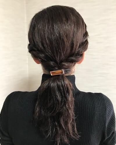 ロープ編みしたくせ毛