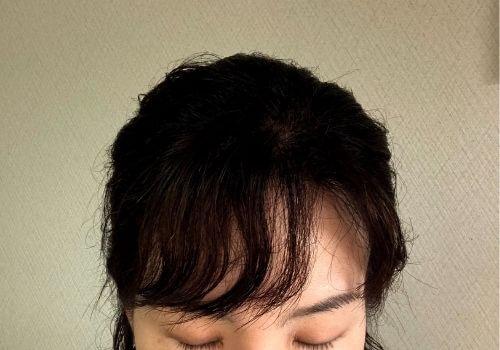 クセを生かした前髪