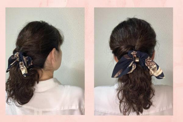 夜のヘアスタイル