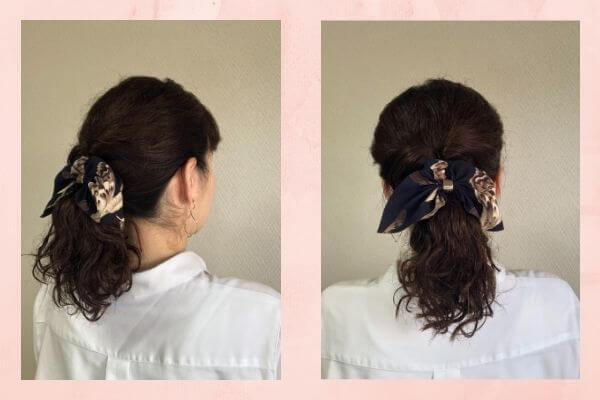 朝のヘアスタイル